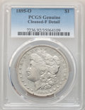 Morgan Dollars: , 1895-O $1 -- Cleaning -- PCGS Genuine. Fine Details. Mintage 450,000. ...