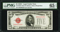 Small Size:Legal Tender Notes, Fr. 1528 $5 1928C Mule Legal Tender Note. PMG Gem Uncirculated 65 EPQ.. ...
