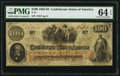 Confederate Notes:1862 Issues, T41 $100 1862 PF-6 Cr. 319 PMG Choice Uncirculated 64 EPQ.. ...