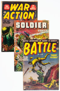 Golden Age War Comics Group of 8 (Various Publishers, 1950s) Condition: Average GD.... (Total: 8 Comic Books)