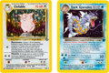 Memorabilia:Trading Cards, Pokémon Pre-Release Cards Group of 2 Avg. 7.0 NM (Wizards of the Coast, 1999-2000)....