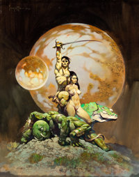 Frank Frazetta A Princess of Mars Painting Original Art (1970)