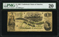 Confederate Notes:1862 Issues, T45 $1 1862 PF-1 Cr. 342A PMG Very Fine 20.. ...