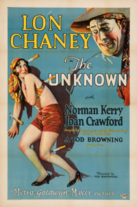 """The Unknown (MGM, 1927). Very Fine on Linen. One Sheet (27"""" X 41"""")"""
