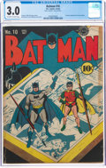 Golden Age (1938-1955):Superhero, Batman #10 (DC, 1942) CGC GD/VG 3.0 Off-white to white pages....
