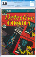 Golden Age (1938-1955):Superhero, Detective Comics #56 (DC, 1941) CGC GD/VG 3.0 Cream to off-white pages....