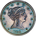 Patterns, 1839 P50C Half Dollar, Judd-97 Restrike, Pollock-107, High R.7, PR65 PCGS. CAC....