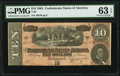 Confederate Notes:1864 Issues, T68 $10 1864 PF-42 Cr. 551 PMG Choice Uncirculated 63 EPQ.. ...