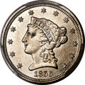 Patterns, 1866 $2.50 Quarter Eagle, Judd-542, Pollock-607, High R.7, PR67 Cameo PCGS. CAC....