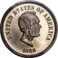 Patterns, 1866 5C Five Cents, King-525, Judd-486, Pollock-575, Cunningham-15-510N, Low R.7, PR64 Cameo PCGS....