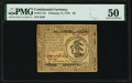 Continental Currency February 17, 1776 $3 PMG About Uncirculated 50