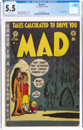 Golden Age (1938-1955):Humor, MAD #1 (EC, 1952) CGC FN- 5.5 Off-white pages....