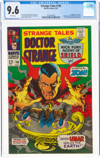 Strange Tales #156 (Marvel, 1967) CGC NM+ 9.6 White pages