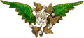 Estate Jewelry:Brooches - Pins, Antique Diamond, Seed Pearl, Enamel, Gold Brooch