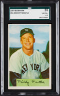 Baseball Cards:Singles (1950-1959), 1954 Bowman Mickey Mantle #65 SGC 55 VG/EX+ 4.5....