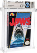 Video Games:Nintendo, Jaws - Wata 9.6 A++ Sealed [Oval SOQ TM, Later Production], NES LJN 1987 USA....