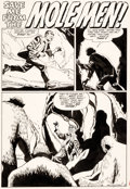 "Original Comic Art:Complete Story, Paul Reinman Tales to Astonish #16 Complete 5-Page Story ""Save Me from the Mole Men!"" Original Art (Marvel Comics,..."