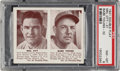 Baseball Cards:Singles (1940-1949), 1941 Double Play Mel Ott/Babe Young #31/32 PSA NM-MT 8 - Only One Higher. ...