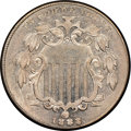 Shield Nickels, 1883/2 5C FS-302 MS61 NGC. NGC Census: (1/9). PCGS Population: (0/6). MS61. ...