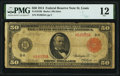 Large Size:Federal Reserve Notes, Fr. 1019b $50 1914 Red Seal Federal Reserve Note PMG Fine 12.. ...