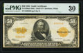 Large Size:Gold Certificates, Fr. 1200a $50 1922 Mule Gold Certificate PMG Very Fine 30.. ...