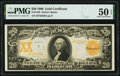 Large Size:Gold Certificates, Fr. 1185 $20 1906 Gold Certificate PMG About Uncirculated 50 EPQ.. ...