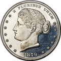 Patterns, 1879 $1 Metric Dollar, Judd-1624, Pollock-1820, High R.7, PR64 PCGS....
