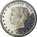 Patterns, 1879 $1 Goloid Metric Dollar, Judd-1633, Pollock-1830, High R.7, PR66+ Cameo PCGS....