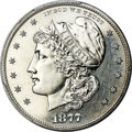 Patterns, 1877 50C Half Dollar, Judd-1539A, Pollock-1707, High R.7, PR63 PCGS....