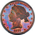 Patterns, 1877 $1 Dollar, Judd-1542, Pollock-1715, Low R.7, PR67 Red and Brown PCGS. CAC....