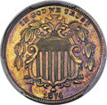 Patterns, 1874 5C Shield Nickel, Judd-1350, Pollock-1494, R.7, PR64 Brown PCGS....