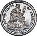 Patterns, 1874 10C Arrows Seated Dime, Judd-1353, Pollock-1497, R.8, PR65 Cameo PCGS. CAC....