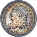 Bust Half Dimes, 1836 H10C 3 Over Inverted 3, V-4, LM-3, FS-301, R.1, MS66+ PCGS. CAC....