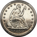 Proof Seated Quarters, 1858 25C PR64 Cameo PCGS. CAC. Briggs 5-E....
