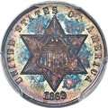 Three Cent Silver, 1869 3CS MS68 PCGS....
