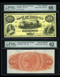 Canadian Currency: , Toronto, ON- Bank of Toronto $20 July 1, 1887 Ch. 715-22-46-Pa/Pab.... (Total: 2 notes)