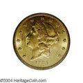 Liberty Double Eagles: , 1905 $20 MS62 PCGS. Brightly colored and typically marked ...