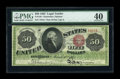 Large Size:Legal Tender Notes, Fr. 150 $50 1863 Legal Tender PMG Extremely Fine 40....
