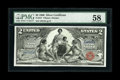 Large Size:Silver Certificates, Fr. 247 $2 1896 Silver Certificate PMG Choice About Unc 58....