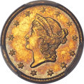 Gold Dollars, 1850-C G$1 MS62+ PCGS. Variety 1. Ex: Simpson. The...