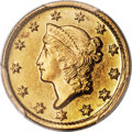 Gold Dollars, 1851-D G$1 MS63+ PCGS. CAC. Variety 3-E....