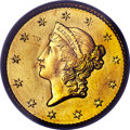 Gold Dollars, 1849 G$1 Closed Wreath, D-5, Close Stars, MS66+ PCGS. CAC....