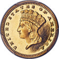 Proof Gold Dollars, 1887 G$1 PR66+ Deep Cameo PCGS. CAC. JD-1, Low R.5....