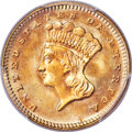 Gold Dollars, 1879 G$1 MS67+ PCGS. CAC....
