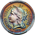Patterns, 1872 3C Three Cent Nickel, Judd-1185, Pollock-1325, High R.7, PR66 Red and Brown PCGS....