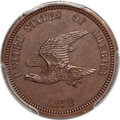 1858 P1C Flying Eagle Cent, Judd-205, Pollock-249, Snow-PT17b, R.8, PR65 Brown PCGS. CAC....(PCGS# 11873)