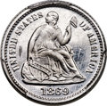 Patterns, 1869 H10C Seated Half Dime, Judd-693, Pollock-772, High R.7, PR64 Cameo PCGS....