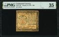 Colonial Notes:Continental Congress Issues, Continental Currency January 14, 1779 $40 PMG Choice Very Fine 35.. ...