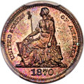 Patterns, 1870 3CS Three Cent Silver, Judd-798, Pollock-885, Low R.7, PR66 Red and Brown PCGS. CAC....