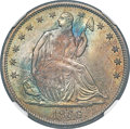 Seated Half Dollars, 1866 50C Motto, Misplaced Date, WB-102, FS-302, MS68 NGC....